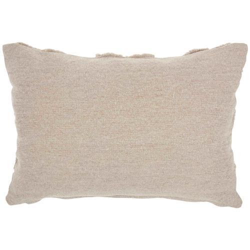 """Life Styles Gt022 Khaki 14"""" X 20"""" Throw Pillow"""