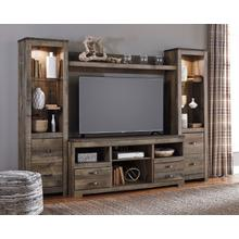 Trinell Brown 4 Piece Entertainment Center