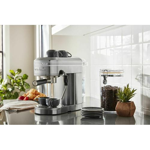 Gallery - Metal Semi-Automatic Espresso Machine - Brushed Stainless Steel