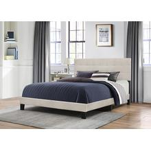 Delaney King Upholstered Bed, Fog