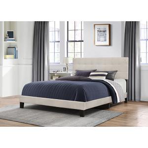 Delaney King Upholstered Bed, Fog