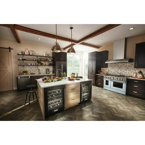 KitchenAid - KitchenAid® 48'' Smart Commercial-Style Gas Range with Griddle - Misty Blue