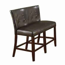 ACME Bravo Counter Height Love Chair (Set-2) - 07252 - PU & Espresso