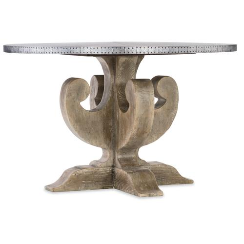 Hooker Furniture - Boheme Ascension 48in Zinc Round Dining Table