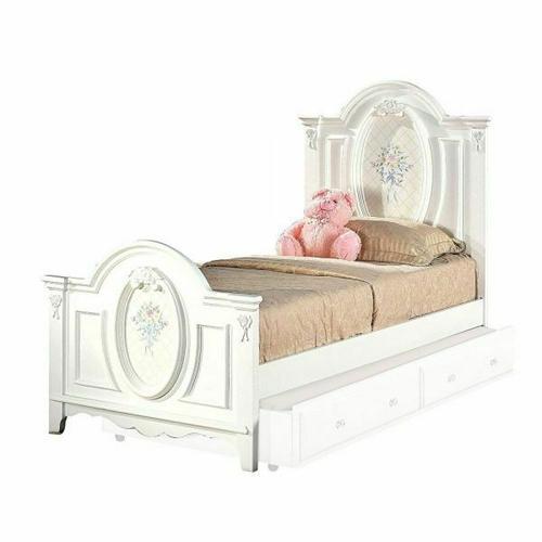 ACME Flora Full Bed (Panel) - 01677F - White