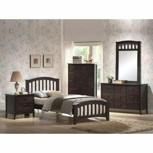 ACME San Marino Twin Bed - 04980T - Dark Walnut