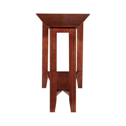 Durham Furniture - Eclectic Shelf Wedge Table