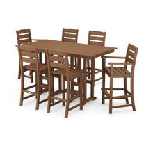 View Product - Lakeside 7-Piece Bar Set in Teak