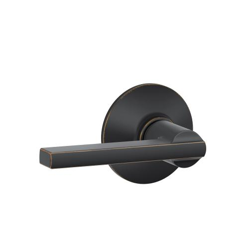 Latitude Lever Hall & Closet Lock - Aged Bronze