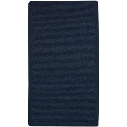 Heathered Pinwheel Navy Blue Solid Braided Rugs (Custom)
