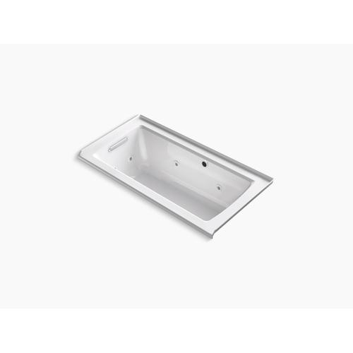 "Biscuit 60"" X 30"" Alcove Whirlpool Bath With Bask Heated Surface"