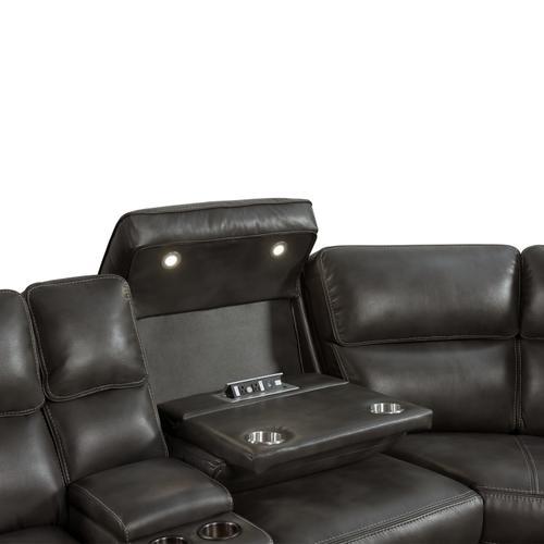 Product Image - Silhouette Dual-Power Sectional Set  Bolero Slate