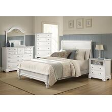 Sleigh Bed with Low Profile Footboard Queen & King (shown in White finish)