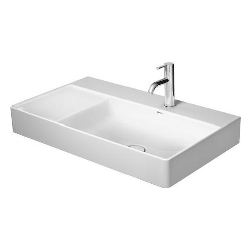 Duravit - Durasquare Furniture Washbasin Asymmetric 2 Faucet Holes Pre-marked With Large Distance Between Faucets