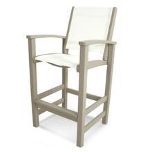 Sand & White Coastal Bar Chair