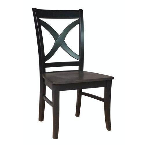 Salerno Chair in Coal & Black