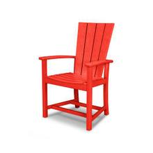 View Product - Quattro Adirondack Dining Chair in Sunset Red