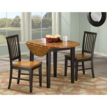 3 PIECE SET (DROP LEAF TABLE AND 2 SIDE CHAIRS)
