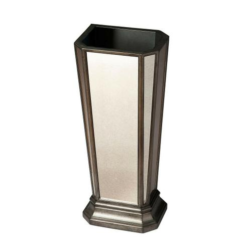 Butler Specialty Company - This refined umbrella stand is sure to add a subtle flair to any living space, entryway or office. Crafted from selected solid woods and wood products, it features antique-finished mirrored sides and a pewter finished frame.