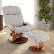 Alta Recliner and Ottoman in Teatro Linen Fabric