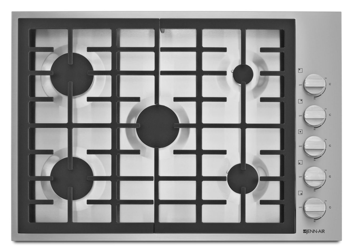 """JennairPro-Style® 30"""" 5-Burner Gas Cooktop Pro Style Stainless"""