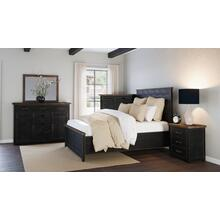 Madison County 5pc King Panel Bedroom: Bed, Dresser, Mirror, Nightstand, Chest