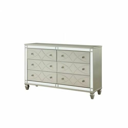 ACME Marcellus Dresser - 22185 - Glam - Wood (Pine), MDF, Ply - Silver