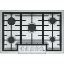 "See Details - 800 Series, 30"" Gas Cooktop, 5 Burners, Stainless Steel"