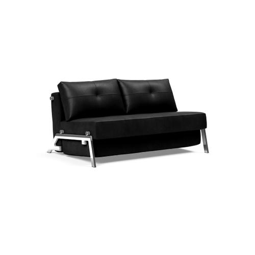 """CUBED 02 SOFA FRONT/MID SEAT, 55""""X79""""/CUBED 02 SOFA BACK & CUSHIONS, 55""""X""""79/CUBED LEGS, CHROME"""