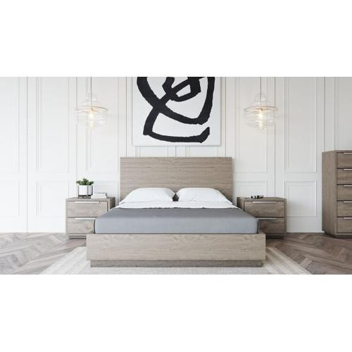 VIG Furniture - Modrest Samson - Contemporary Grey & Silver Bedroom Set