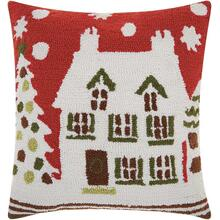 "Home for the Holiday Yx015 Multicolor 18"" X 18"" Throw Pillow"