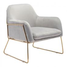 Nadir Arm Chair Gray & Gold