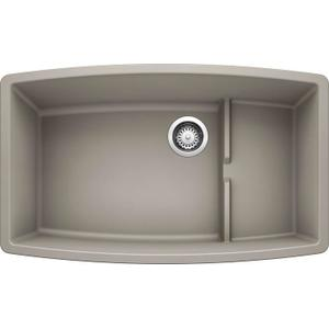 Performa Cascade Super Single Bowl - Concrete Gray