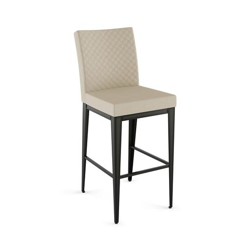 Pablo Non Swivel Stool With Quilted Fabric