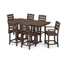 View Product - Lakeside 7-Piece Counter Set in Mahogany
