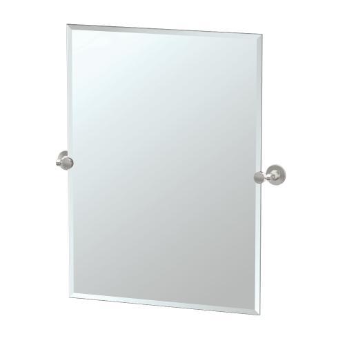 Max Rectangle Mirror in Satin Nickel