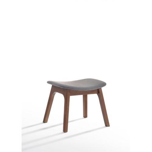 VIG Furniture - Modrest Whitney Modern Grey & Walnut Accent Chair & Ottoman
