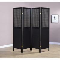 Contemporary Black Four-panel Screen Product Image