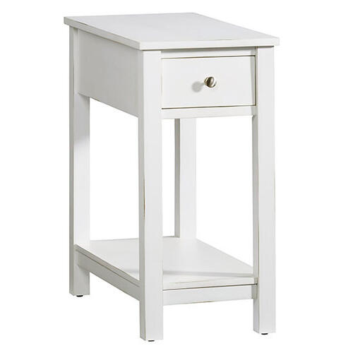 Chairside Table - White Finish