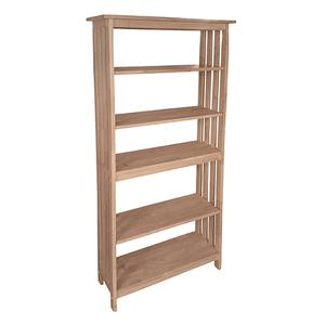 Whitewood Industries - SH-7230M 72''H Mission Bookcase