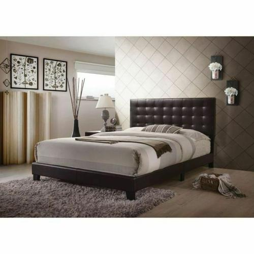 ACME Masate Queen Bed - 26350Q - Espresso PU