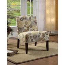 ACCENT CHAIR BEIGE/CIRCLES F.