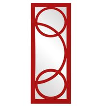 View Product - Dynasty Mirror - Glossy Red