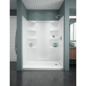 """Delta Faucet Company - White Haywood 60"""" x 30"""" Shower Base-Right"""