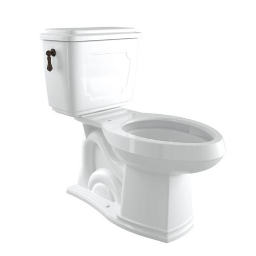 Tuscan Brass Perrin & Rowe Victorian Elongated Close Coupled 1.28 Gpf High Efficiency Water Closet/Toilet