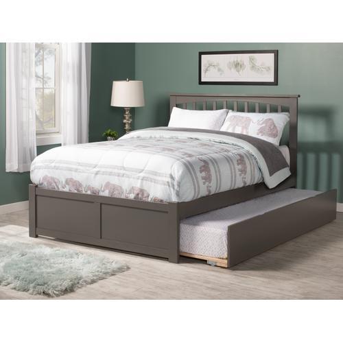 Atlantic Furniture - Mission Full Flat Panel Foot Board with Urban Trundle Atlantic Grey