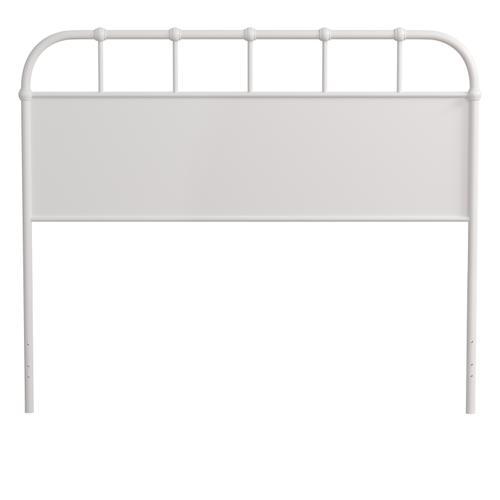 Grayson King Metal Headboard Without Frame, Textured White