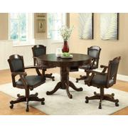 Casual Black and Tobacco Upholstered Game Chair Product Image