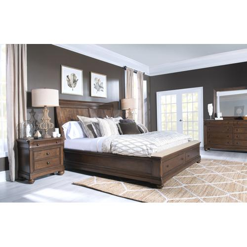 Coventry Sleigh Bed w/Storage Ftbd, King 6/6