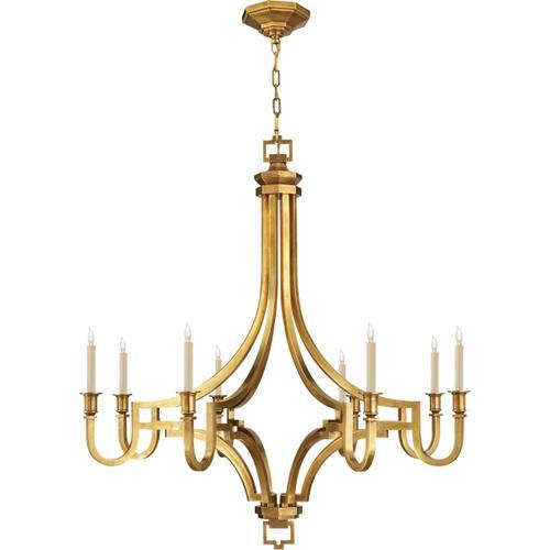 Visual Comfort - E. F. Chapman Mykonos 8 Light 37 inch Antique-Burnished Brass Chandelier Ceiling Light